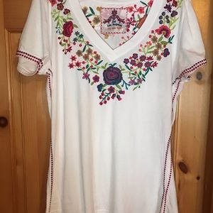 Johnny Was Embroidered T-shirt